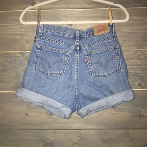 Vintage high waist Levi's denim shorts